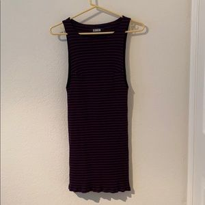 Réformation Tali Dress Navy ans Red Striped